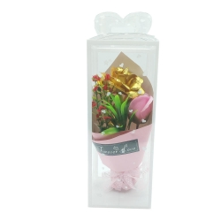 FORVER LOVE METAL FLOWER BOUQUET - PINK