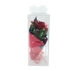 FORVER LOVE METAL FLOWER BOUQUET - RED