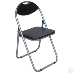 STEEL FOLDING CHAIR BLK/PINK