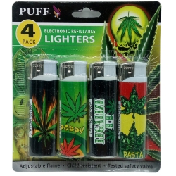 PUFF ELECTRONIC LIGHTERS 4PK