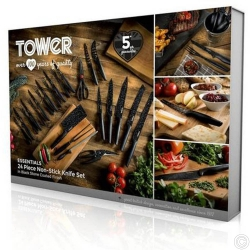 TOWER 24PC S/STEEL KNIFE SET