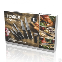 TOWER 6PCS S/STEEL KNIFE SET
